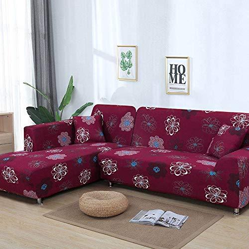WXQY Patrón geométrico en Forma de L combinación Funda de sofá sofá Toalla Sala de Estar Todo Incluido Cubierta de sofá a Prueba de Polvo Tela A12 1 Plaza