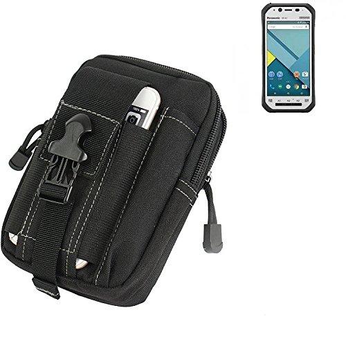 K-S-Trade® Gürtel Tasche Für Panasonic Toughpad FZ-N1 Gürteltasche Schutzhülle Handy Hülle Smartphone Outdoor Handyhülle Schwarz Zusatzfächer