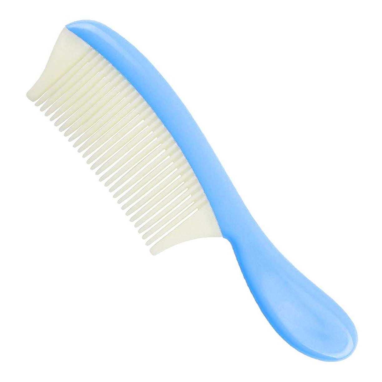 逆にボット一時停止B Blesiya 細かい歯 ヘアコーム ヘアブラシ 全4色 - 青