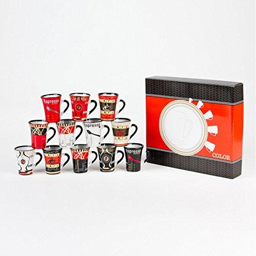 Coffret 12 tasses café Color 10cl