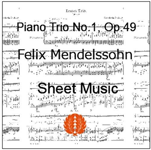 『楽譜 pdf メンデルスゾーン ピアノ三重奏曲第1番 ニ短調 Op. 49 全パート譜セット』のトップ画像