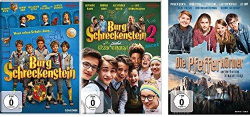 Burg Schreckenstein 1+2 & Die Pfefferkörner und der Fluch des schwarzen Königs - 3 Spielfilme im Set - Deutsche Originalware [3 DVDs]