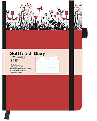 SoftTouch Silhouettes Daisy 2018 - Wochenplanner 2018, Buchkalender, Taschenkalender - 16 x 22 cm: Buchkalender - Wochenkalender