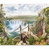 murando - Fototapete 300x210 cm - Vlies Tapete - Moderne Wanddeko - Design Tapete - Wandtapete - Wand Dekoration - Wasserfall Natur Landschaft c-B-0138-a-a