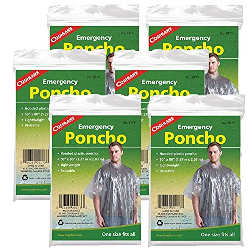 Coghlan's Emergency Poncho (6 Pack)