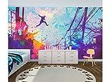 Papel Pintado para Pared Infantil Salto en Grafiti| Fotomural para Paredes | Mural | Papel Pintado | Varias Medidas 100 x 70 cm | Decoración comedores, Salones, Habitaciones.