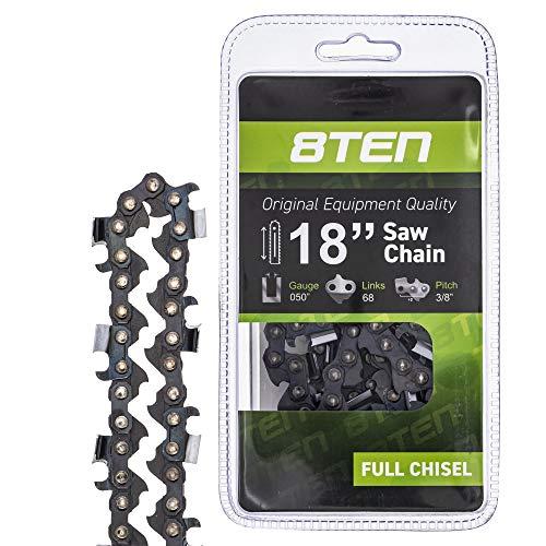8TEN Chainsaw Chain for Husqvarna 455 460 455 Rancher Stihl Poulan Jonsered 18 inch Bar .050 Gauge 3/8 Pitch 68DL -  Mishon Inc, 810-CCC2231H