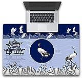 Yiiuii Mauspad Blau Kran Pavillon Tastatur Pad Notebook Teppich Desktop Abdeckung 600X400X3Mm
