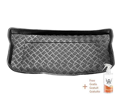 Rezaw Kofferraummatte aus PVC Passend für Toyota AYGO II (ab 2014) + Kunststoffreiniger (Geschenk)