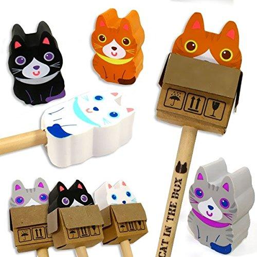 Katzen Radierer und Bleistift, 1 Stk