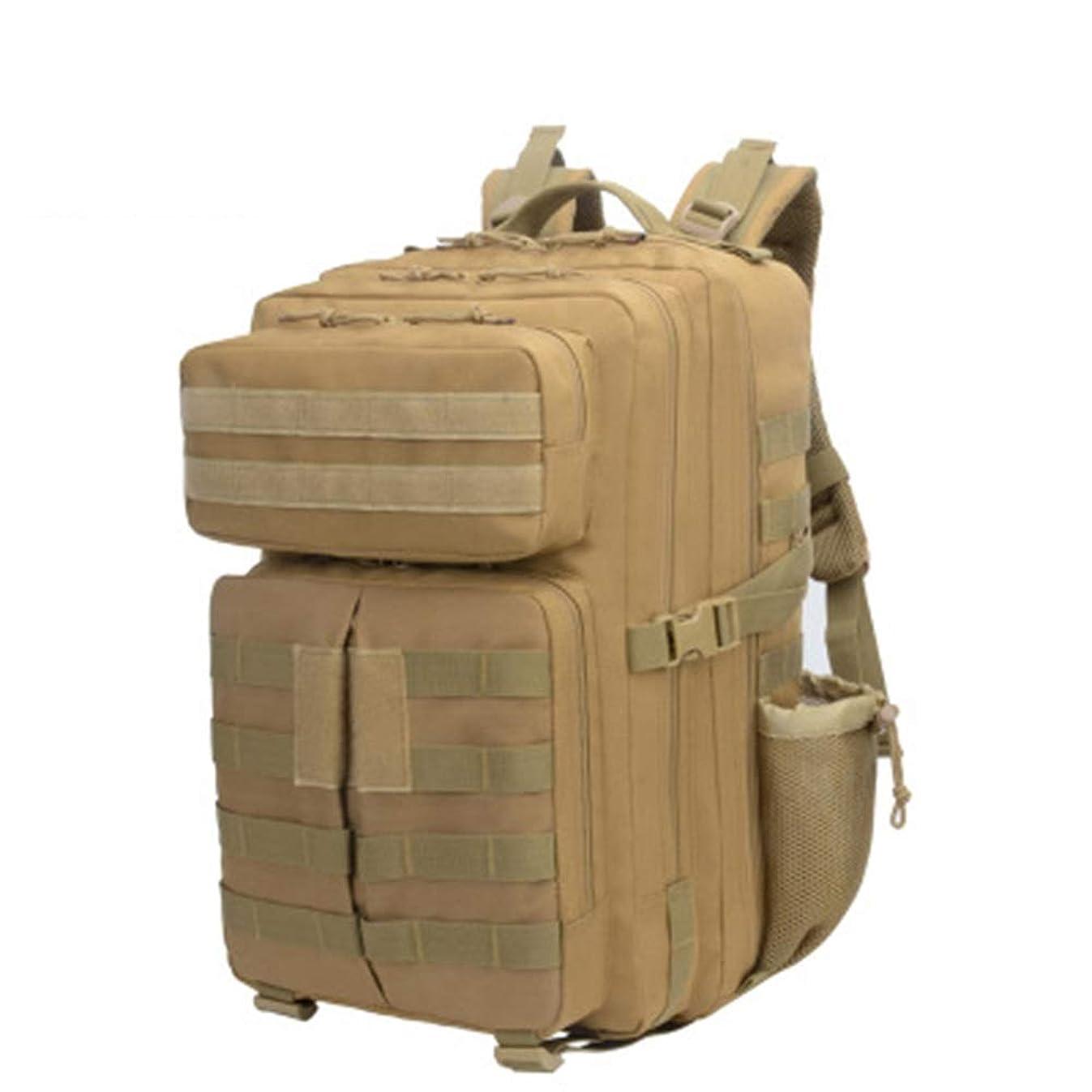 不測の事態疼痛レザー通気性 大容量の多機能バックパック/オックスフォード素材ウェア耐久性のある/カジュアルな屋外バッグ大容量のライブ戦術バックパック (色 : Brown)