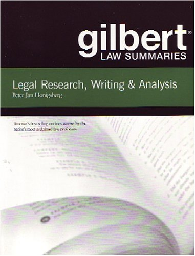 Gilbert Law Summaries on Legal Research, Writing, and Analysis