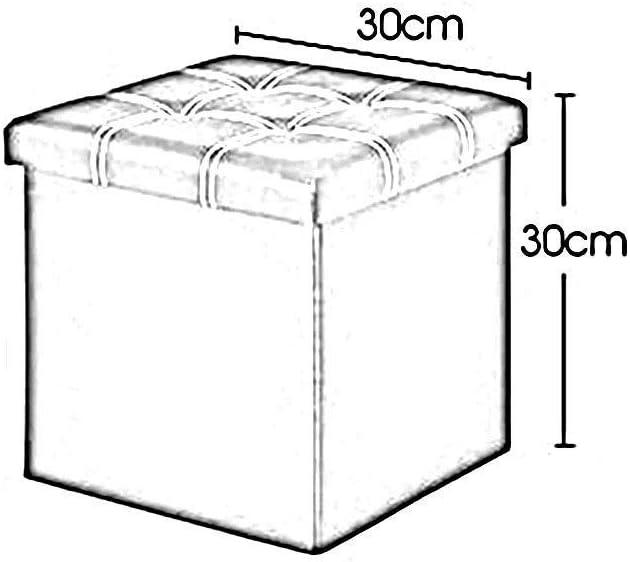 YUMUO Pochette de Rangement Pouf de Rangement Jouet Repose-Pieds rembourré en Simili Cuir Tabouret de Salon Minimaliste (Couleur: Noir, Taille: 30cm) 3