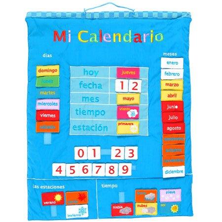 Fiesta Crafts-Mi Calendario español, Color Azul (1)