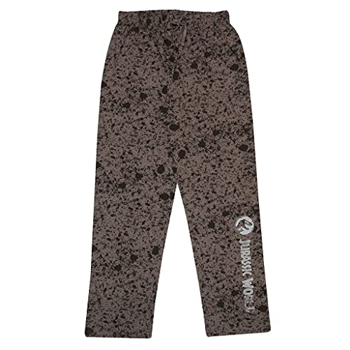 Popgear Jurassic World Text Logo AOP Men's Lounge Pantalones Negro/Carbónal XS