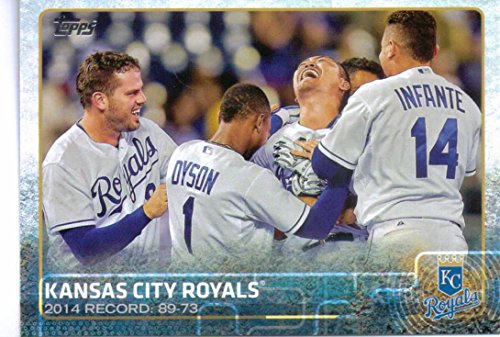 Kansas City Royals 2015 Topps MLB Baseball Regular Issue Complete Mint 22 Card Team Set with Alex Gordon Eric Hosmer Plus