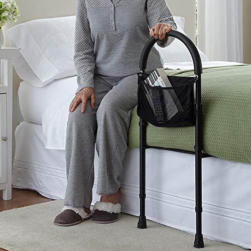 Summer Bettgriff aufstehhilfe, Einstellbare Start Krankenhaus-Bett-Schiene und Bed Assist Haltegriff for ältere Erwachsene, Inklusive Organizer Pouch, Mobility Aid