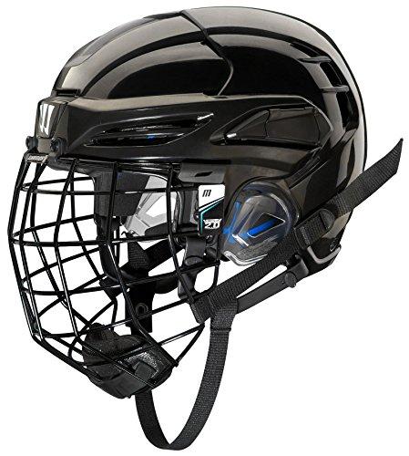 WARRIOR PX2HC6 Ice Hockey Players Helmet with Cage, Black, Medium