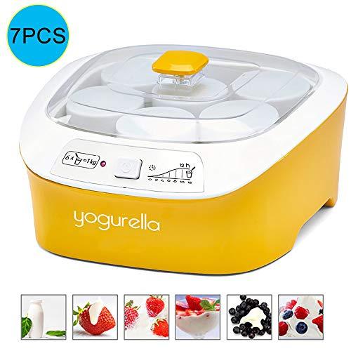 Multifunctionele Yoghurtmachine,6 Kopjes Voor Het Delen Van Borosilicaat, Klaar Voor Gebruik Wanneer Ingeschakeld, Eenvoudig Te Demonteren En Schoon Te Maken,360 Graden Rondom Verwarmen