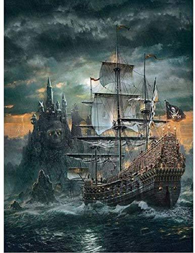 1000 piezas rompecabezas para adultos, rompecabezas de madera para adolescentes, diseño de barco pirata clásico juego educativo, gran Holid