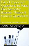 List of Important Questions to Pass Biochemistry...