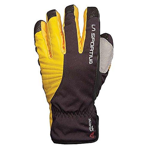 La Sportiva Tech - Guantes (talla L), color negro y amarillo
