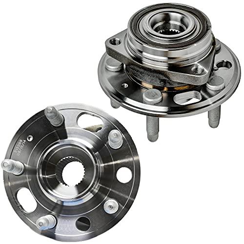 Detroit Axle - Front or Rear Wheel Hub Bearing for Chevy Impala Malibu Buick Lacrosse Regal Cadillac CTS XTS GMC Terrain Saab 9-5 - 2pc Set