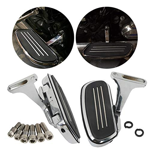 ZXMT Motorcycle Passenger Foot Floorboard Kits fits for Harley Touring Models Road Street Glide 1993-2019 Floor Boards Chrome