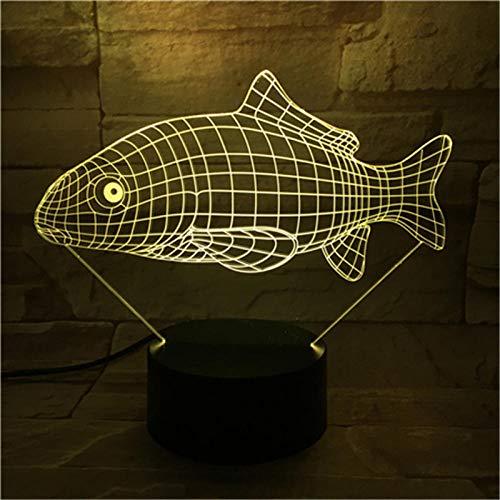 Luz nocturna 3D en 3D, forma de animal, 7 colores, cambia de color, iluminación de Navidad, regalo de cumpleaños para niños