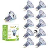 Bojim Bombillas Led Gu10 regulables,10xSpotlight Bulbs 4000K, 8.5W 575LMLámparas Halógenas Equivalentes a 80W, 36°Luz blanca fría Spotlight LED,Bombillas Cristal Iluminación para el hogar, Oficina