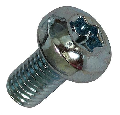 Aerzetix: 20 Schrauben mit abgerundeten Kopf M5x10mm Stahl verzinkt Abdruck T25 Torx C18363
