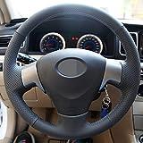 JIERS Cubierta de Volante de Cuero, para Toyota Corolla 2006-2010 Matrix 2009 Auris 2007-2009, Cubierta del Volante del Coche
