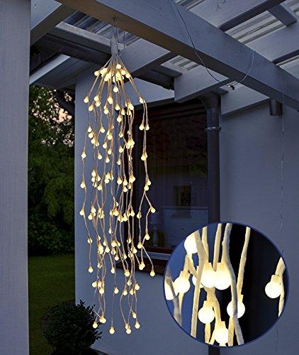 HI LED Lichterzweige hängend 70 cm mit 144 warmweißen LEDs