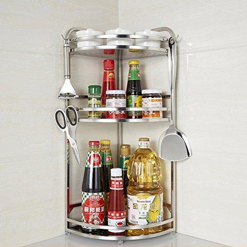 Dongyd Coin organisateur de support à épices pour étagères de rangement pour meuble En acier inoxydable, debout ou suspendu, support de rangement pour bouteilles à condiments, comptoir petite étagère