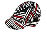 Comeaux Caps Reversible Welding Cap Fireman Flag Size 7 5/8