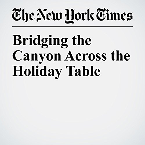 Bridging the Canyon Across the Holiday Table copertina