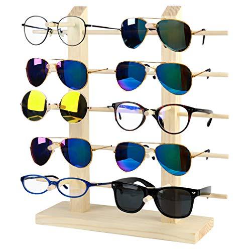 JUSTDOLIFE Expositor De Gafas De Madera Soporte De Gafas De...