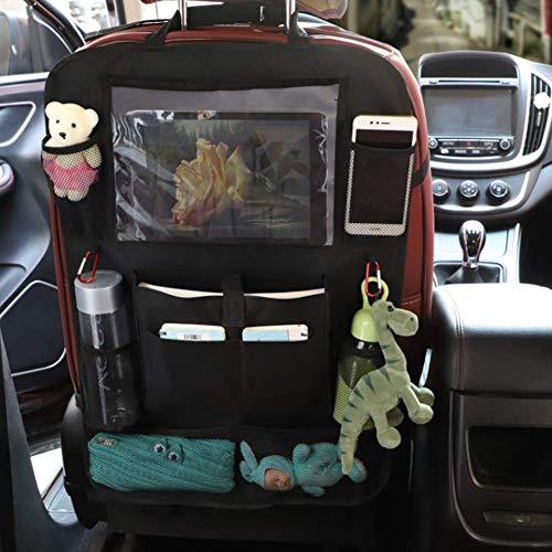 JJ. Sac de rangement universel pour siège arrière de voiture pour bouteilles, mouchoirs, jouets, iPad, tablette