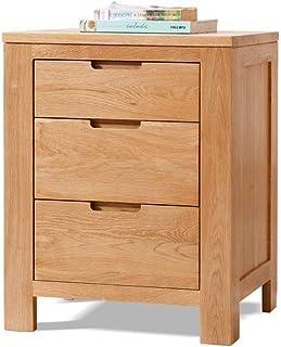 ZGYQGOO Tables de Chevet, 3 tiroirs, Texture Claire, Chambre à Coucher, Table de Chevet, Rangement, Organisateur de Table ...
