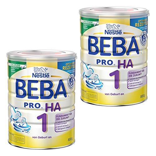 Nestlé BEBA Pro HA 1 12332812 - Leche para bebés, alimento HA, 2 x 800 g