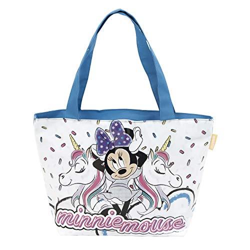 Disney Minnie Maus Strandtasche AUSWAHL Umhängetasche Tasche Mädchentasche Handtasche Minnie Mouse (Minnie Maus + Einhorn)