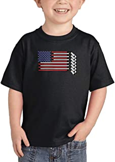 Haase Unlimited American Flag - Hockey Sticks Pucks Infant/Toddler Cotton Jersey T-Shirt