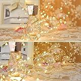 LEDGLE 8er Stück LED Lichterkette Batterie Kupfer Drahtlichterkette Warmweiß 1.2M&24LEDs Lichterketten Weihnachten Batteriebetrieben wasserdichte Lichter Flasche Dekoration - 7