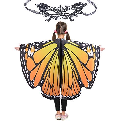 Butterfly Wings for Girls Kids Halloween Costume Fairy Shawl Festival Rave Dress