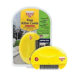 STV International Zero In Flea Killer Comb (Poison-Free, Electric Flea and Tick Comb for Use on Cats and Dogs)