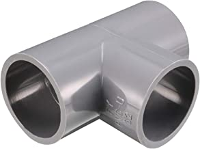 uxcell 32mm Slip 90 Degree PVC Pipe Fitting Elbow Coupling Adapter Gray 2 Pcs