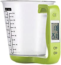 Digital Food Kitchen Scale with Measuring Cup Function Green