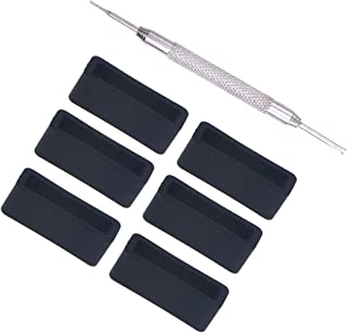Hemobllo Lot de 11 anneaux de rechange en silicone pour montre avec outil fixe, Silicone, Noir , 2 cm