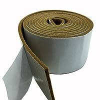 Tetedeer 床のキズ防止テープ 自由にカットして使用可 幅5cm 長200cm (ブラウン)