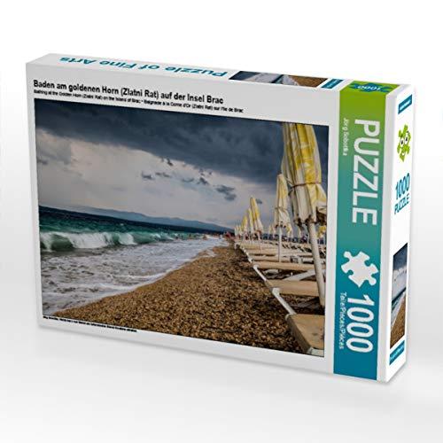 CALVENDO Puzzle Baden am goldenen Horn (Zlatni Rat) auf der Insel BRAC 1000 Teile Lege-Größe 64 x 48 cm Foto-Puzzle Bild von Jörg Sobottka